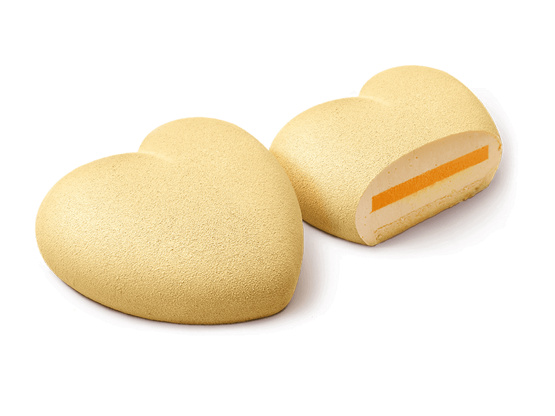 Чизкейк «Сердце манго-маракуйя»